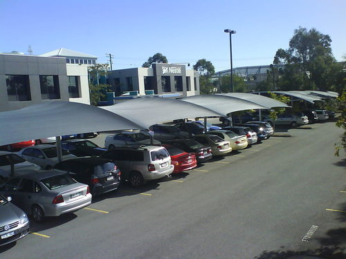 commercial shades for carparks and outdoor coverings Brisbane